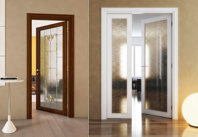 Porte scorrevoli classiche - Vetri decorati per porte scorrevoli ...