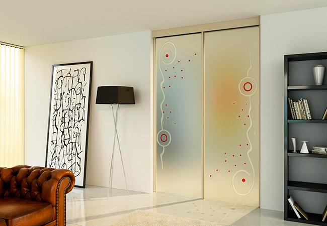 Porte scorrevoli a quattro ante longhi vetrate novara - Porte scorrevoli per cucina ...